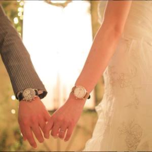 お揃いの婚約時計